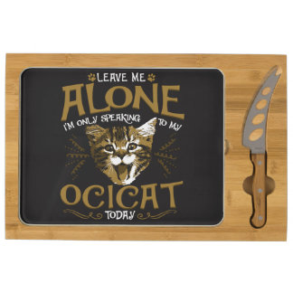 Ocicat Cat Quotes Round Cheeseboard