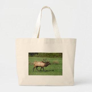 Oconaluftee Elk Large Tote Bag