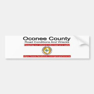 Oconee County Road Conditions and Wrecks Novelties Bumper Sticker