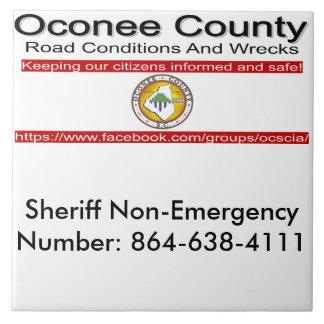 Oconee County Road Conditions and Wrecks Novelties Ceramic Tiles