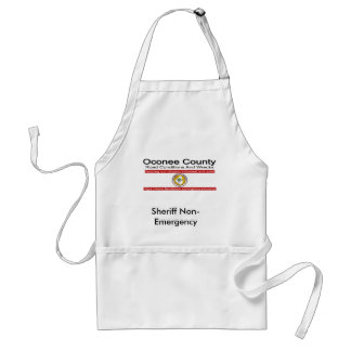 Oconee County Road Conditions and Wrecks Novelties Standard Apron