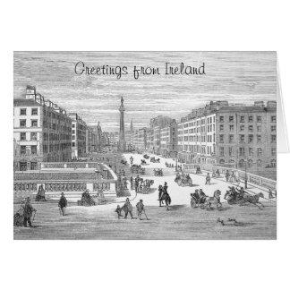 O'Connell Street Vintage Dublin Ireland Greeting Card