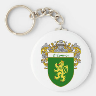 O'Connor Coat of Arms (Mantled) Basic Round Button Keychain