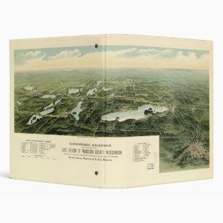 Oconomowoc & Waukesha Wisconsin (1890) Vinyl Binder