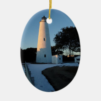 Ocracoke Island Christmas Ceramic Ornament