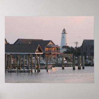 Ocracoke Island Harbor Poster