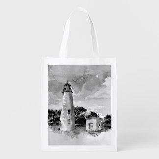 Ocracoke Island Lighthouse Reusable Bag