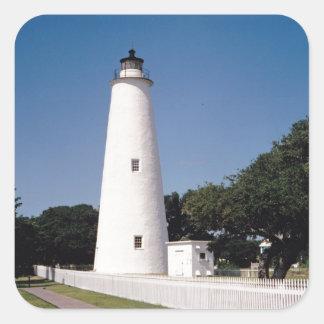 Ocracoke Lighthouse Square Sticker
