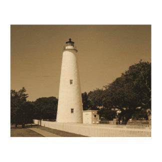 Ocracoke Lighthouse Wood Prints