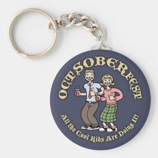 Oct-Sober-Fest Keychain
