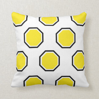 Octagon Pillow in Yellow and Black