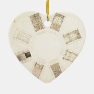 Octagonal Room Ceramic Ornament