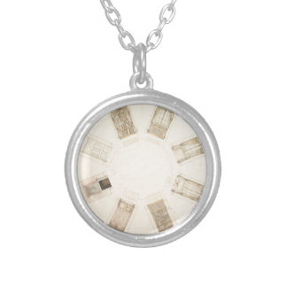 Octagonal Room Silver Plated Necklace