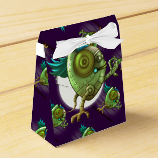 OCTO ALIEN CARTOON  Tent with Ribbon Favor Box 2