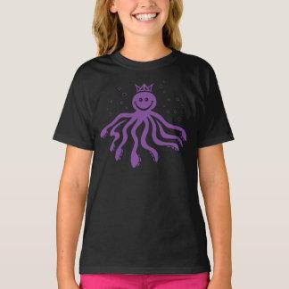 Octo Majesty Girls' T-shirt (Purple Print)