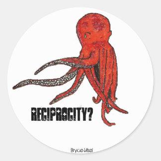 octo reciprocity classic round sticker