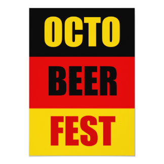 OctoBeerFest Oktoberfest Beer Party Invite