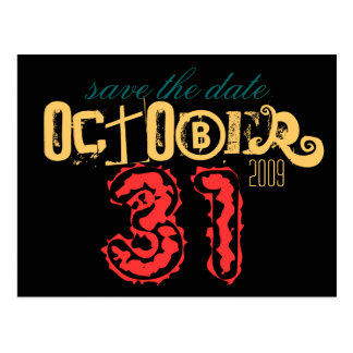 October 31st Save the Date Postcard