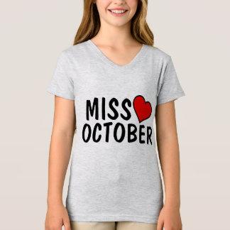OCTOBER BIRTHDAY GIRL T-shirts, MISS OCTOBER T-Shirt