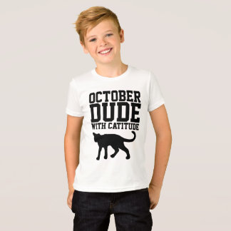 OCTOBER BIRTHDAY T-shirts  for guys, Cat