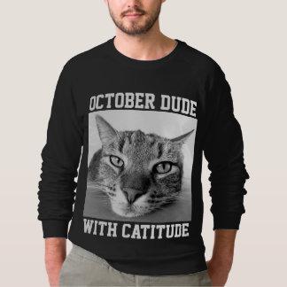 OCTOBER BIRTHDAY T-shirts & Sweatshirts, Mens Cat