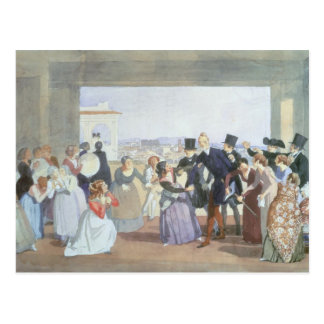 October Celebration in Rome, 1842 Postcard
