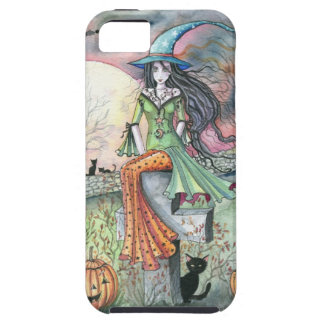 October Chill Witch by Molly Harrison iPhone 5 Case