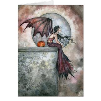 October Dreams Vampire Gothic Fairy Card