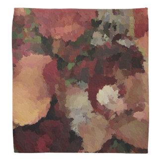 October Floral Fossil Bandana Design