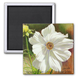 """October Flower: Cosmos"" by Janae L... Magnet"