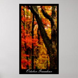 October Grandeur Poster