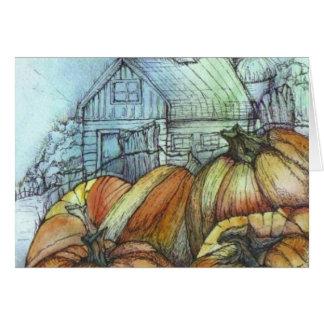 October in the Garden Card