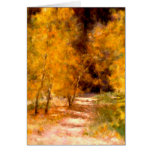 October Inspired Blank Greeting Card