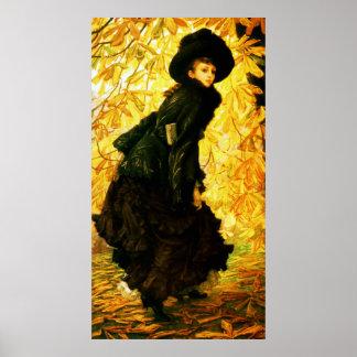 October ~ James Tissot ~ Fine Art Canvas Print