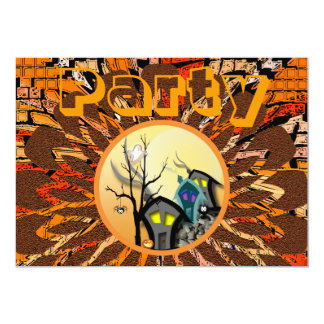 """October Party 5"""" X 7"""" Invitation Card"""