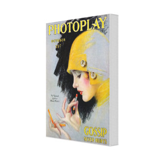 October Photoplay Canvas Print