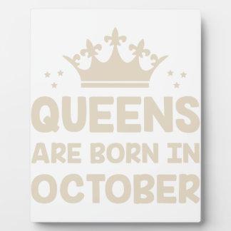 October Queen Plaque