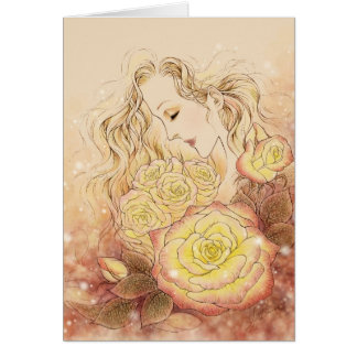 October Rose Greeting Card