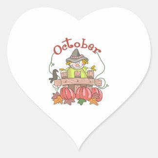 OCTOBER HEART STICKERS