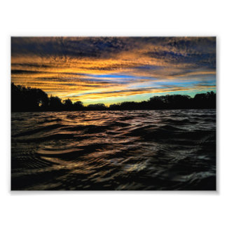 October Sunset Print