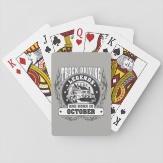 October Truck Driving Legends Playing Cards