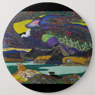 OCTOBER VACATION 6 INCH ROUND BUTTON