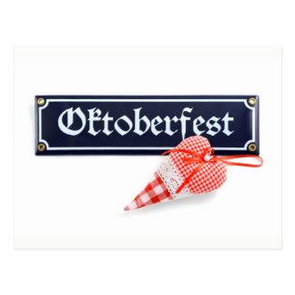 Octoberfest Munich with heart Postcard