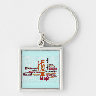 Octoberfest Octoberfest Octoberfest Munich Munich Silver-Colored Square Keychain