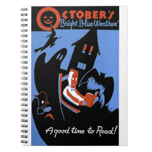 October's Bright Blue Weather Notebook