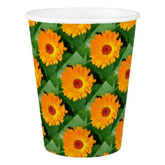 October's Summer Sunlit Marigold Paper Cup