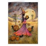 Octobre met en place l'imaginaire de sorcière et d cartes de vœux