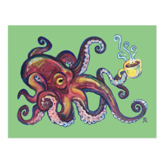 OctoCoffee Postcard