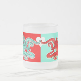 Octopi Attraction Frosted Glass Coffee Mug