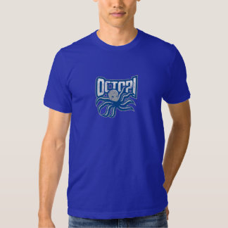 Octopi Distressed logo - Blue Shirt